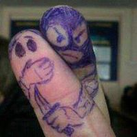 Finger Art by AntozWolf