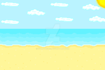 Pixel Beach by SyanTheBee