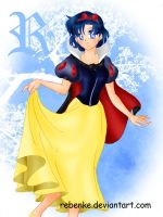 Sailor Mercury as Snow White by rebenke
