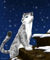 Snow Leopard by DarkCrazyD