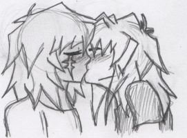 Gem kiss sketchy stuff by YaoiYuriTwins