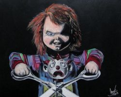 Child's play 2 painting (for sale on ebay) by AmandaPainter87