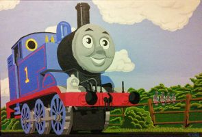 Thomas the tank engine by bushwookiee