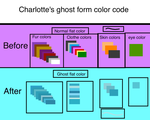 Charlotte's ghost form color code by Charlotterulesofteam