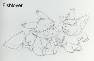 Pika Wally and Skitty Kuki by Fishlover