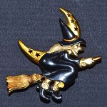 Vintage Rare Paquette Halloween Witch Brooch by sevvysgirl