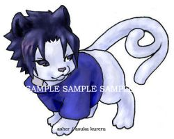 Sasuke-chibi nekomata for Gaia by askerian