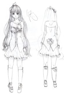 Character Design Sketch by Grakay