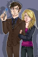 The Doctor and Rose by Airafleeza