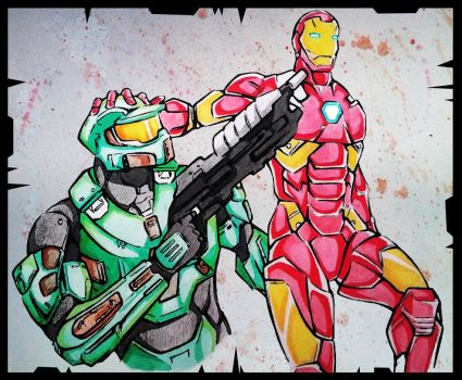 Master Chief vs Iron Man by demonic-brute