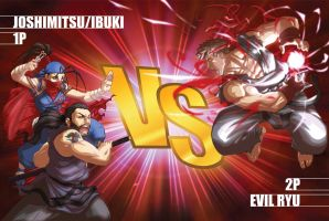 JOSHIMITSU + IBUKI vs EVIL RYU by FooRay