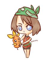 May and Torchic by MilkApple