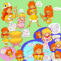 Daisy Doodles with Peach by bulgariansumo