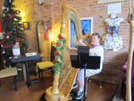 The Christmas Harpist by OwossoHarpist
