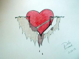 Heart on Barbed Wire by TheGreyPersona