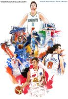 Danilo Gallinari - trough the years by m2mazzara