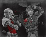 Hiccup and Astrid babysit color by BrittanyMichel