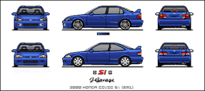 1997 Honda Civic sedan by gupa507