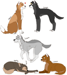 1D Wolves by Flat-Bread