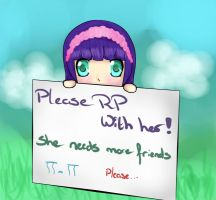Please RP with her!!! by litheruh