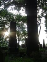 old cemetery in sunset by Promiseoftheraven