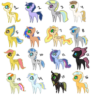Guess-to-Adopt Ponies by Kydox-Adopts
