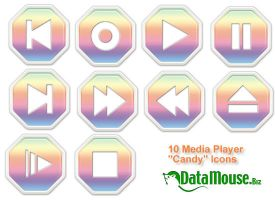 'Candy' Media Player Icons by datamouse