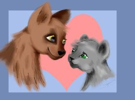 Mutt and Kit by LilWolfStudios