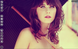 My Desktop Zooey Deschanel -Vintage- by vdk84