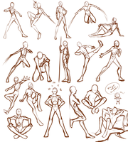 Male Poses by Lunalli-Chan
