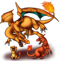 Charmander and evos by AFrozenHeart2
