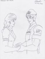 Akira and 'Francine' - Chance Meeting 2 by BlueWolfRanger95