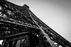 Side of the Eiffel Tower by Penson37