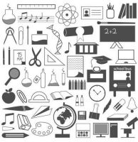 Education Icons Free Vector Graphics by Designslots