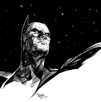 Inktober 1 - Batman by NickRoblesArt