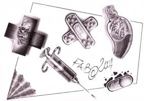 Medical Stuff tattoo flash by demoniak-evil