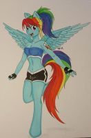 Anthro Rainbow Dash by shyredd