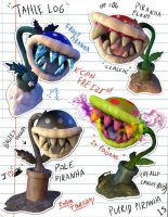 Paper Mario - Piranha Plants by Efraimrdz