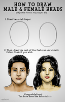 How To Draw Male and Female Heads by azfar-90