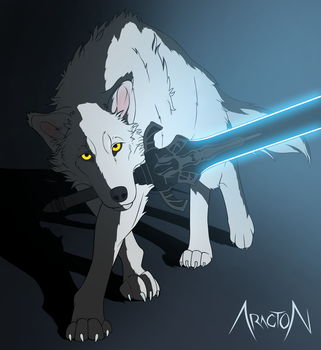 Great Grey Wolf Sif by Aracton