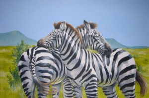 Noon Zebras by Hbruton