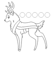 reindeer line art by fursonaloverXD