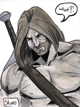Dalrak the Mighty Sketch Card by Shono