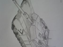 Sketched M1A1 by SomethingWild7