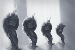 Canterlot Hall of Royals by AssasinMonkey
