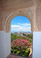 A Glimpse at Granada From The Alhambra by AgiVega