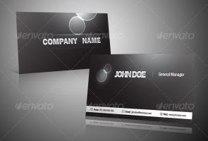 Black and Silver Business Card by victorsosea