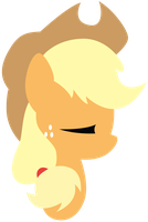 Applejack Lineless Headshot by Scourge707