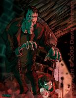 FRANKENSTEIN'S MONSTER by sideshowmonkey