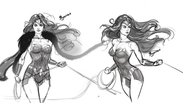 Wonder Woman sketch by Prywinko